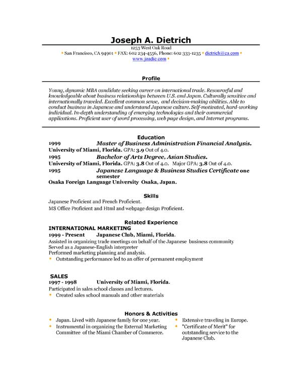 download free resume format in ms word resume format