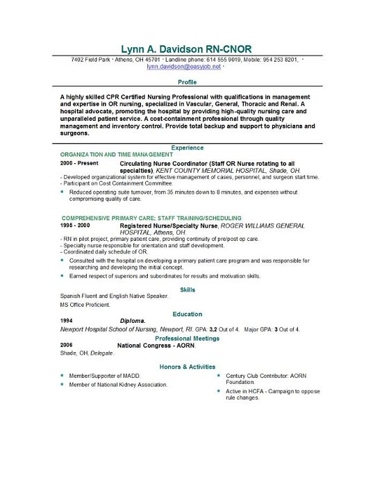 Resume Examples Nursing New Grad. Cover Letter For Colorado