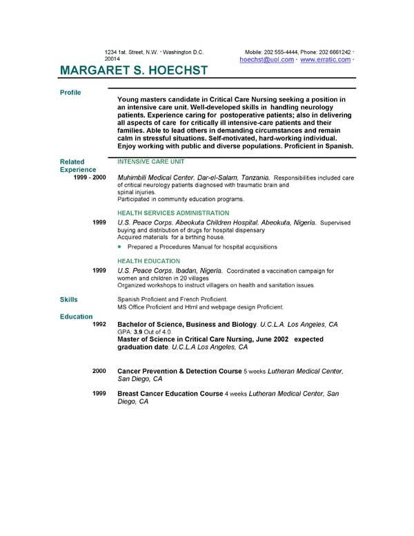 Short Resume Sample. Short Resume Sample Resume Examples Event