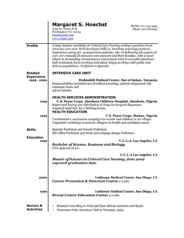 Short Form Resume Example. Free Printable Resume Ehow Com Free