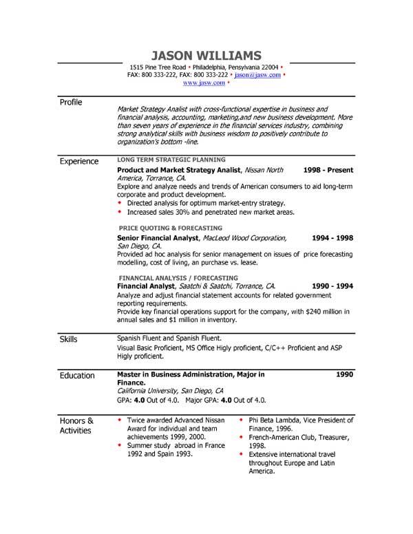 Printable Example Resumes. Printable Resume Worksheet Template