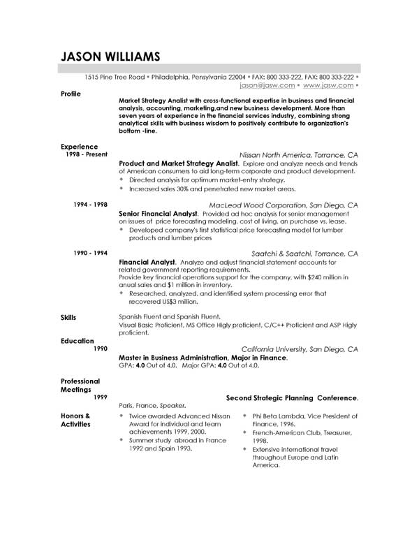 an excellent resume objective resume format examples good resumes