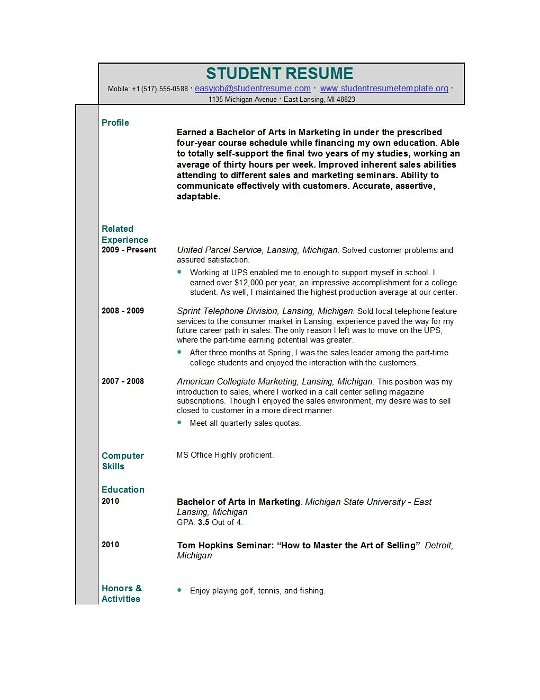 1 Sample Resume For High School Students Resume Objective High