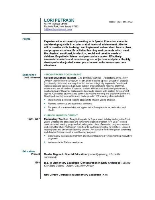 best sample resume teachers college professor sample resumes