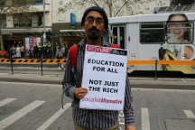 Lecturer from University of Melbourne Sagar Sanyal supports education is for all.