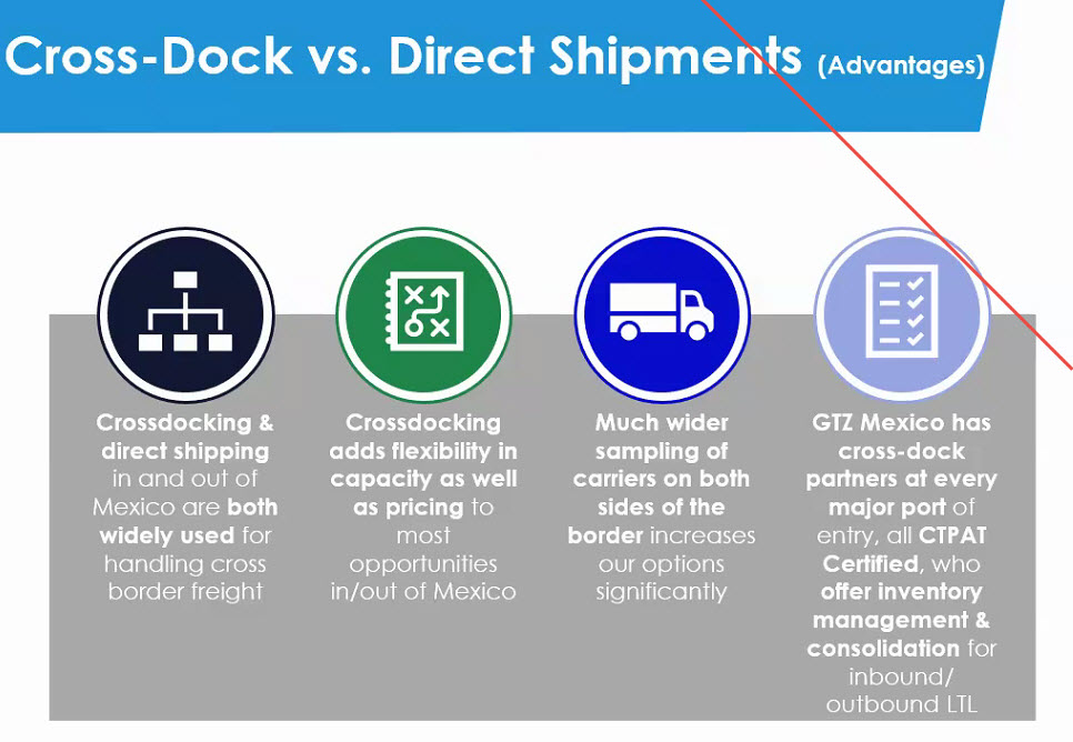 Mexico Direct Freight Shipping Vs Cross Docking