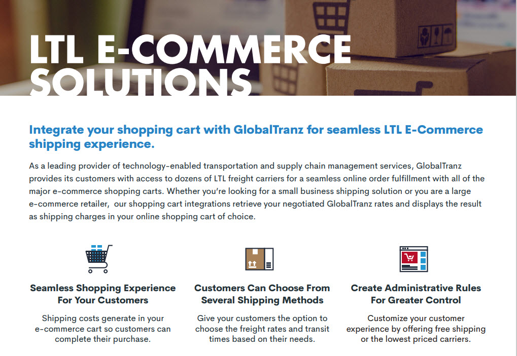 shopify e-commerce freight shipping automation