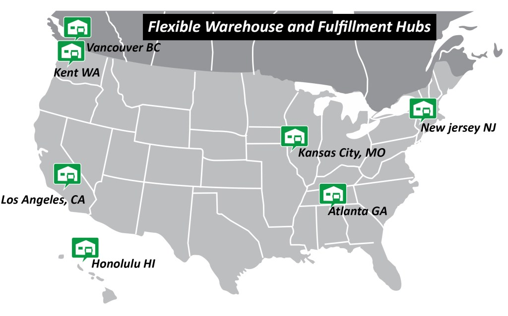 warehouse and fulfillment location easy logistics management