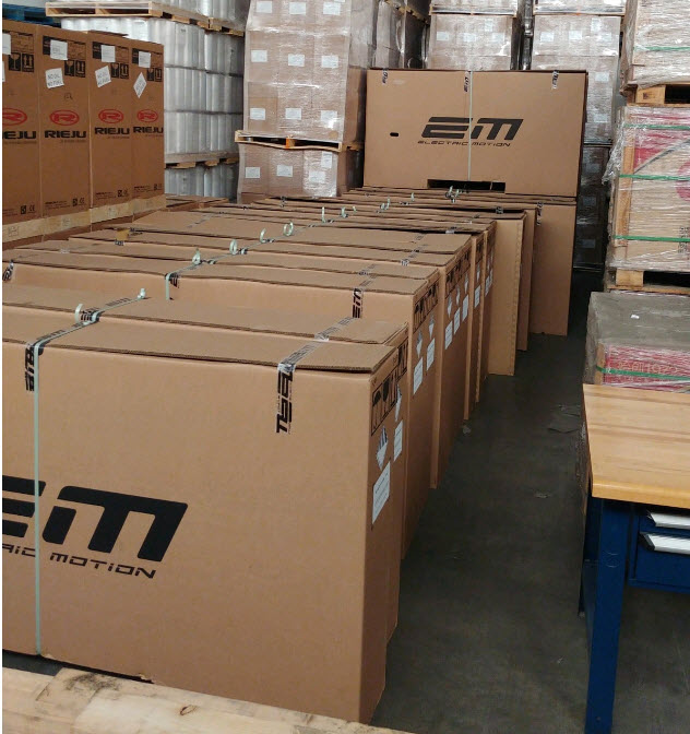 shipping motorcycles for electric motion