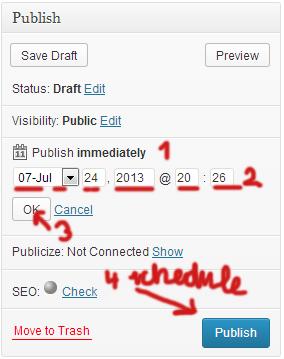 WordPress Scheduling