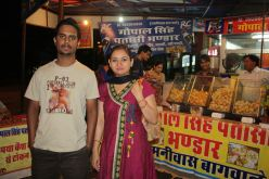 ME at Roadside Stall with My relative