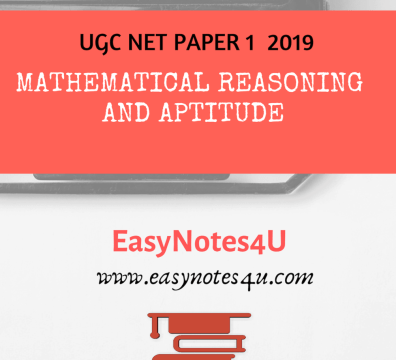 Mathematical Reasoning Notes for NTA UGC NET Paper 1 eBook