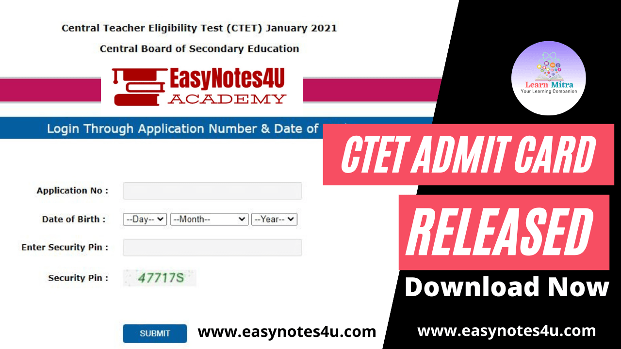 CTET admit card 2021 released by CBSE; here's download link
