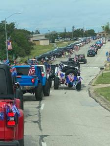 AJP members participating in the local 4th of July parade in Lago Vista.