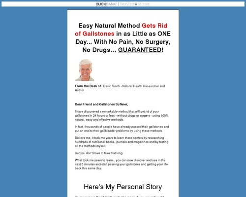 The Gallstone Elimination Report * Make $42.92 With Upsell! 1