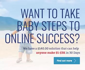 Baby Steps to online success