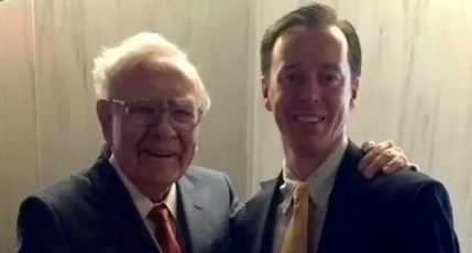 Warren Buffett with Author Jeremy Miller