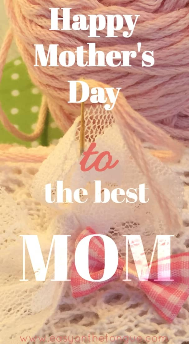 Happy Mothers Day How to make an adorable printed fabric tag for Mothers Day