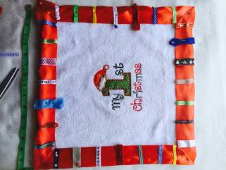 FullSizeRender 20 How to make a 'My First Christmas' Tag Blanket