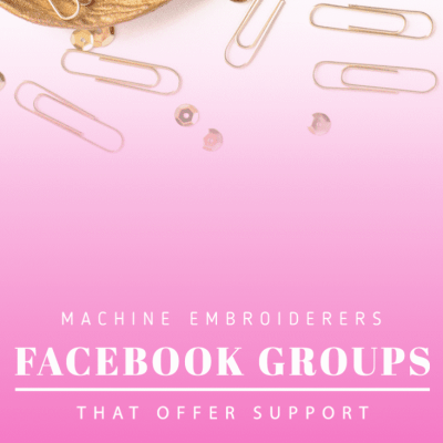 Machine Embroiderers get the know-how in Facebook groups