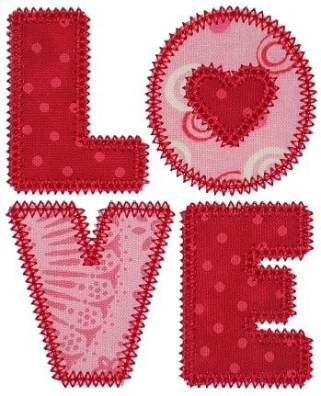 LOVE free applique by GG Designs Embroidery The 10 Most Adorable Free Valentine's Day Embroidery Designs