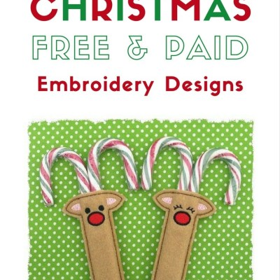 The Most Special Free and Paid Rudolph Christmas Embroidery Designs