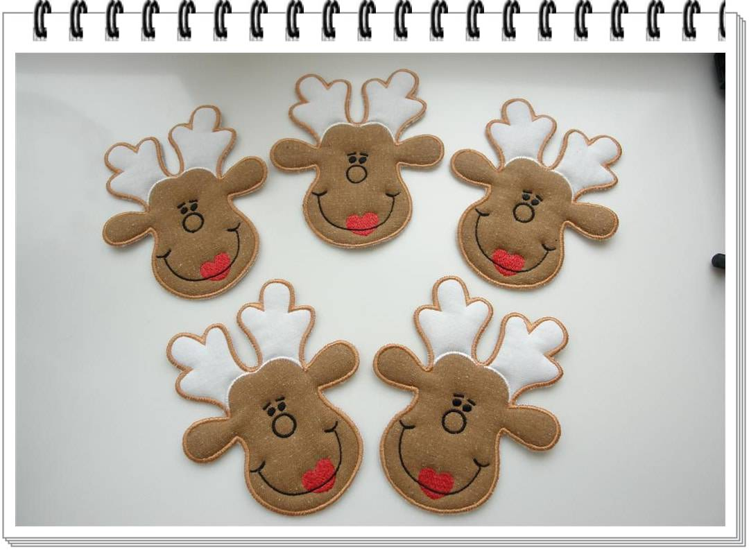 Reindeer Applique free design The Most Special Free and Paid Rudolph Christmas Embroidery Designs