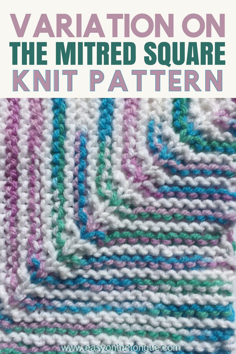 Free Easy Knit Square Pattern To Make A Quick Throw