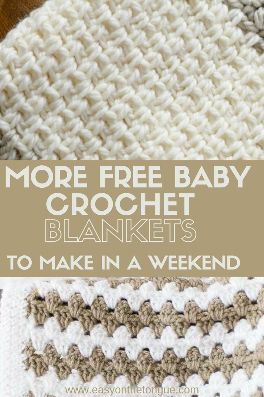 More Free Baby Crochet Blankets to make in a weekend