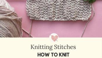 How to knit Moss Stitch Panes & – Knitting Stitches