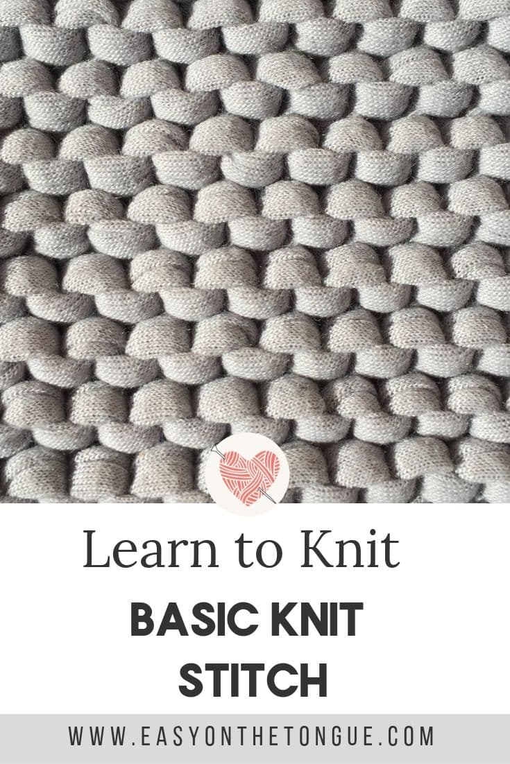 The Basic Knit Stitch – Knitting for Beginners