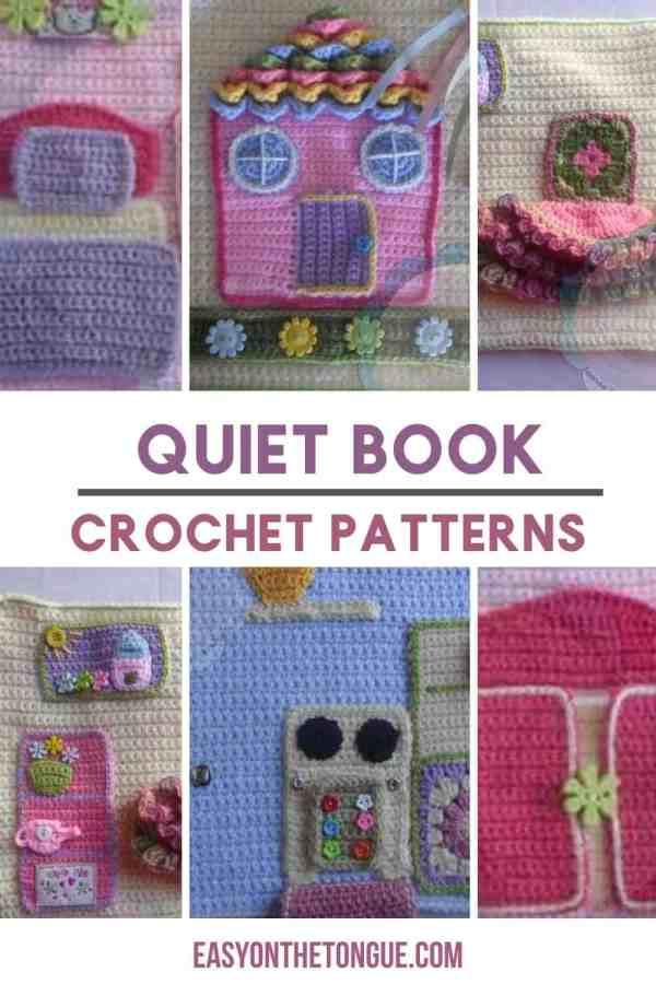 Quietbook crochet patterns for dollhouse crochetquietbook crochetplaybook crochetplayandlearn Cómo tejer libros tranquilos