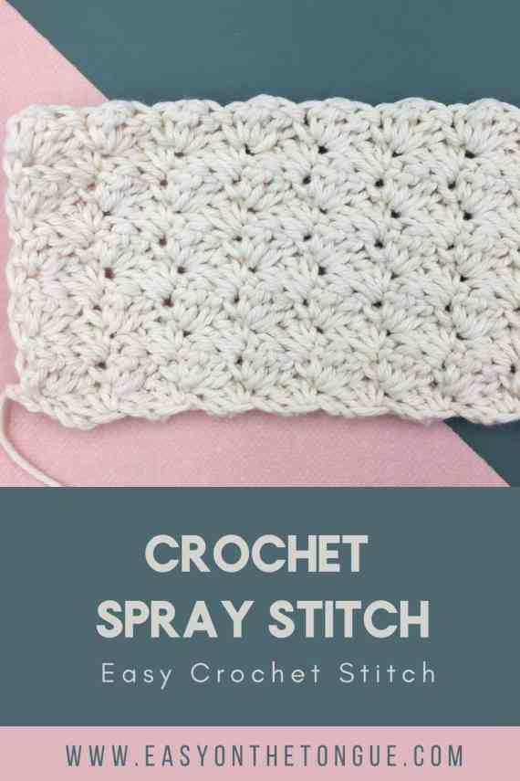 Crochet Spray Stitch crochetspraystitch crochetstitch easycrochetstitch 1 Crochet Spray Stitch, una puntada de crochet texturizada fácil