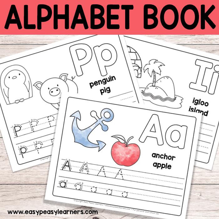 Free Printable Alphabet Book Alphabet Worksheets For Pre K