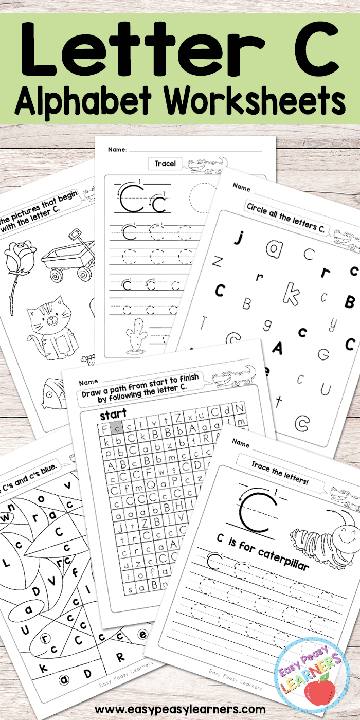 Letter C Worksheets Alphabet Series Easy Peasy Learners
