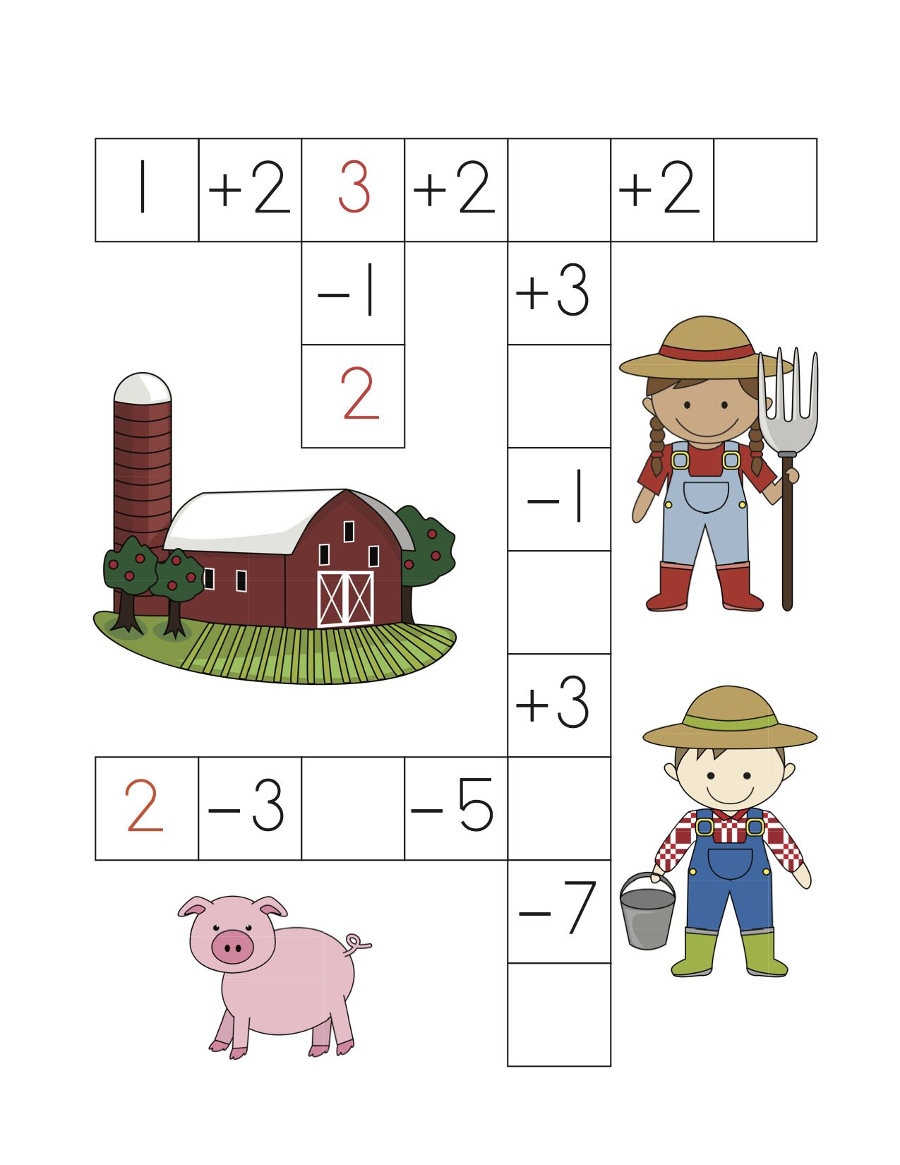 Additionandsubtractionpuzzleworksheets