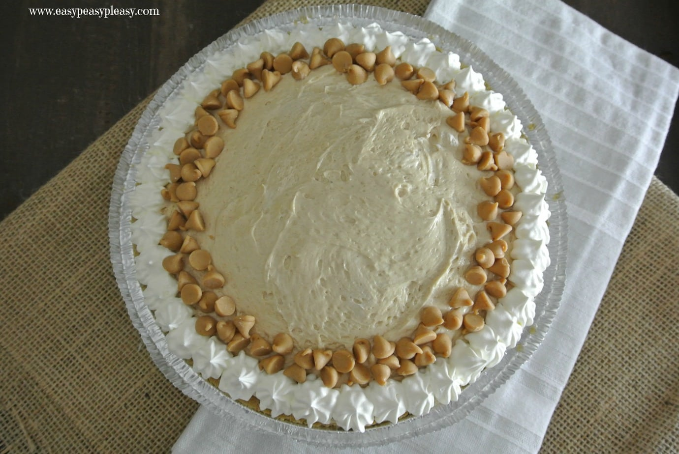 Easy No Bake Make Ahead Peanut Butter Pie