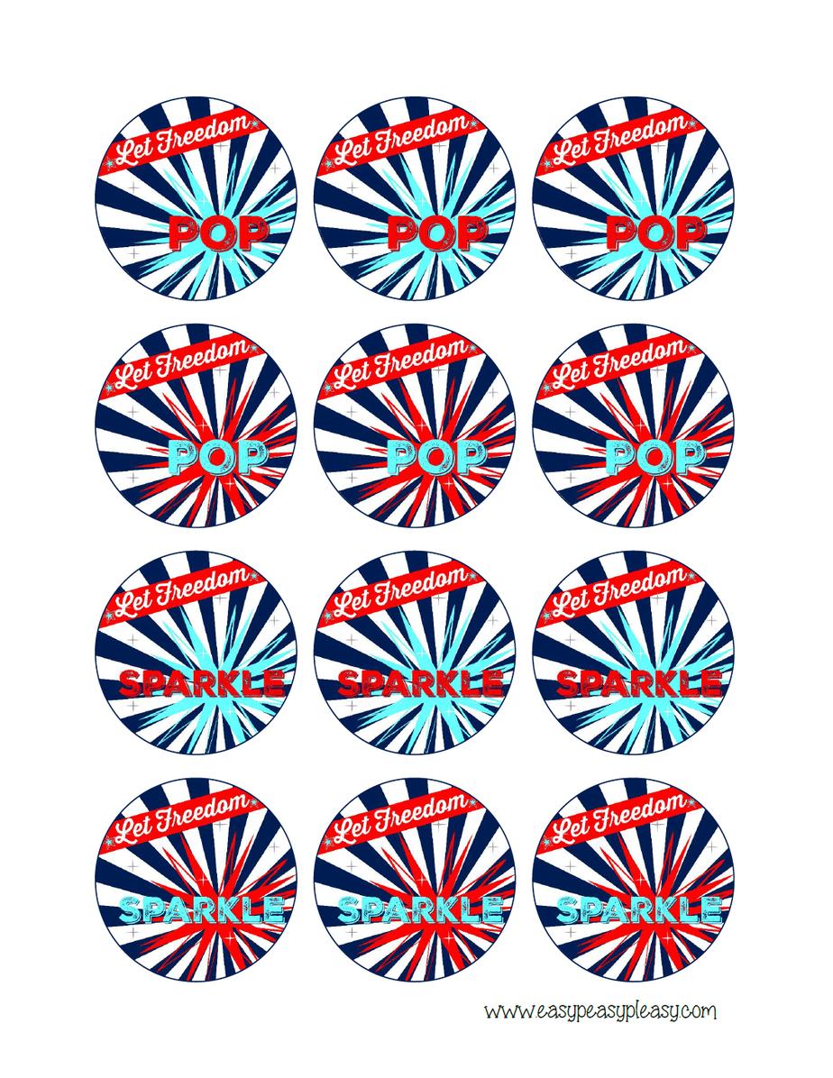 Free Printable Patriotic Party Pack