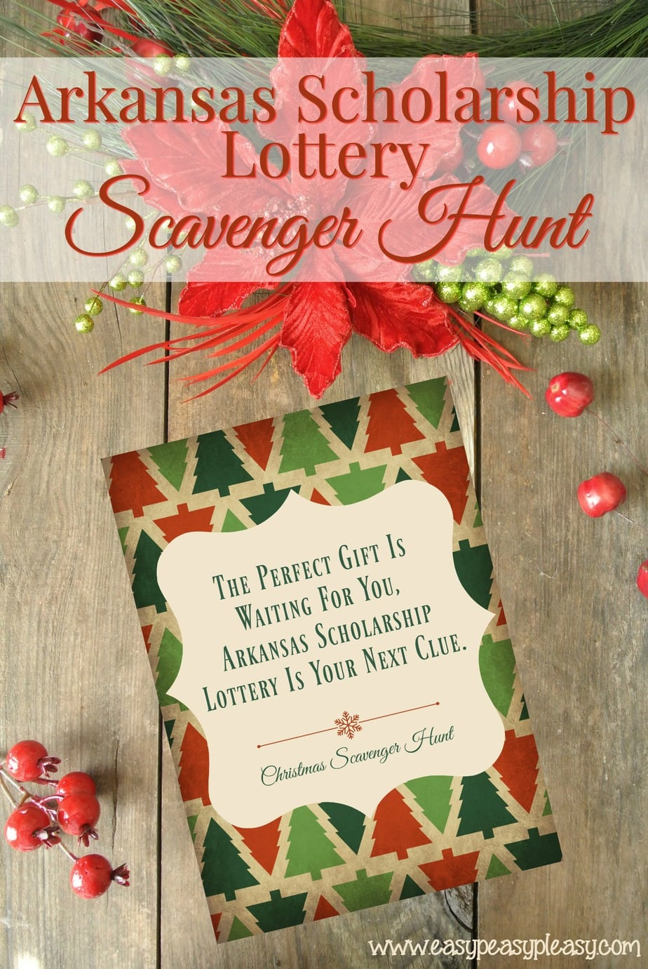 Christmas Scavenger Hunt With Free Printable Clues