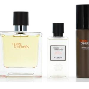 Hermes Terre D' Hermes Cologne Gift Set for Men, 3 Pieces