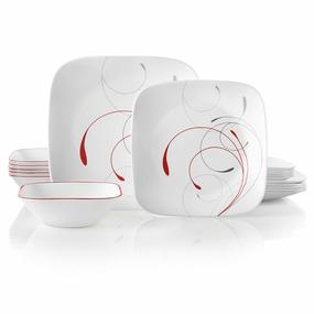 Corelle 18-Piece Service for 6, Chip Resistant, Splendor Dinnerware Set