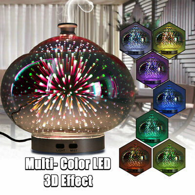 3D Effect LED Aromatherapy Essential Oil Diffuser Firework Humidifier Ultrasonic