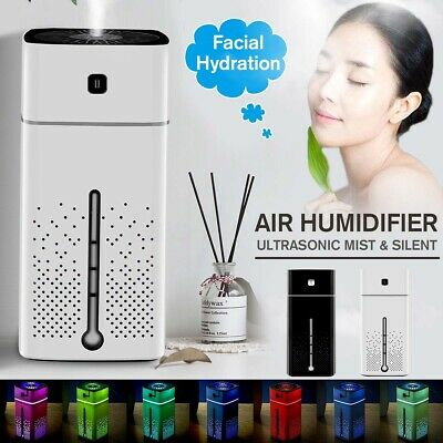 Aroma Ultrasonic Air Humidifier Facial Aromatherapy Essential Oil Mist Diffuser