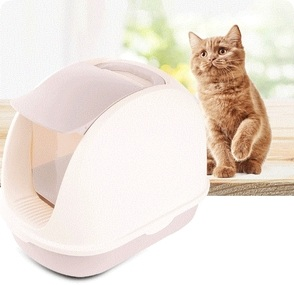 Portable Pet Cat Enclosed Litter Box House