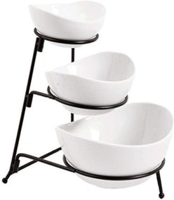 3 Tier Oval Bowl Set
