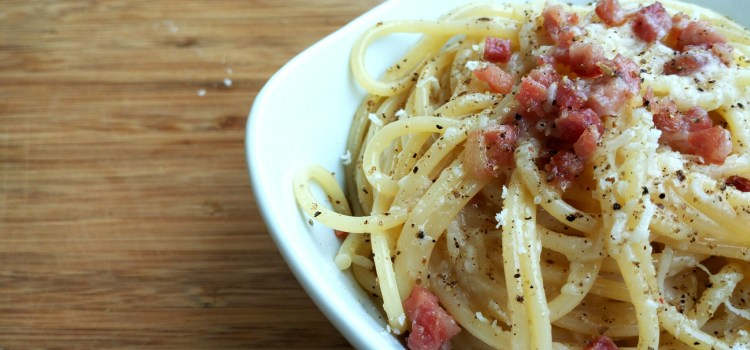 Real classic spaghetti carbonara recipe