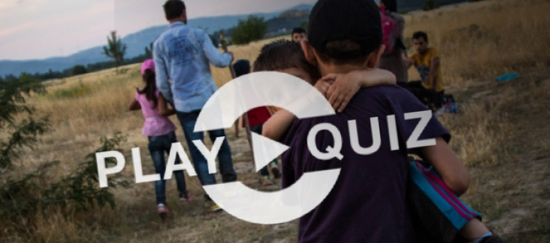 Learn more about the refugee crisis with UNHCR's quiz.