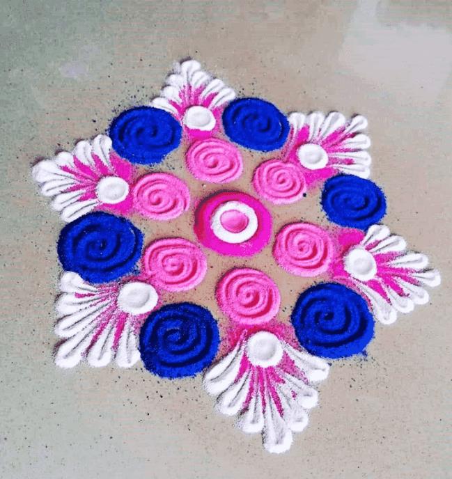 Admirable Amavasya Rangoli Design