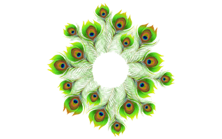 Green Rangoli Design