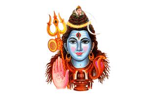Shiva Rangoli Design